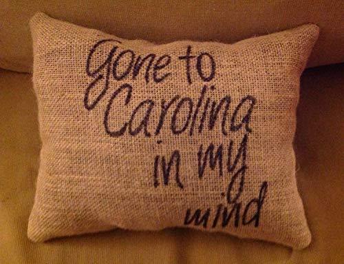 Gone to Carolina Burlap Pillowcase Carolina Pillowcase Burlap Pillowcase Southern Pillowcase Front Porch Pillowcase Carolina On My Mind Southern Decor