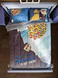 3pc FULL/QUEEN Size DISNEY UP ''See the World by Balloon'' COMFORTER & 2 PILLOWCASE Set
