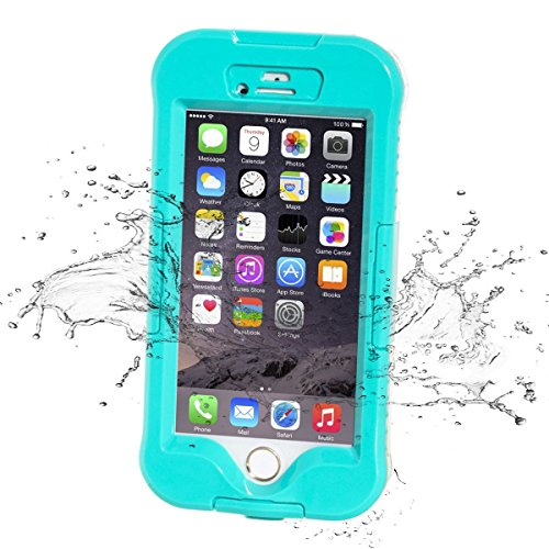 iPhone 6S Waterproof Case, iThrough 32ft IP68 iPhone 6S Waterproof Case, Dust Proof, Snow Proof, Shock Proof Case, Heavy Duty Protective Carrying Cover for iPhone 6S, iPhone 6 4.7 Inch (H-Blue)
