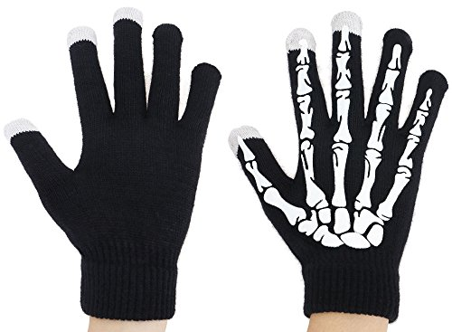 Cool Halloween Costumes Tumblr (Simplicity Halloween Costume Skeleton Gloves Knit Touchscreen Gloves)