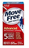 Schiff Total Joint Health, Advanced, Triple Strength, Coated Tablets, Move Free, 80 ct (Pack of 1)