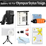 Battery And Charger Kit For Olympus Stylus Tough TG-610 TG-810 TG-820 iHS TG-830 iHS, TG-630 iHS, TG-850 iHS, TG-860, TG-870 Digital Camera Includes Replacement LI-50B Battery + AC/DC Charger + More