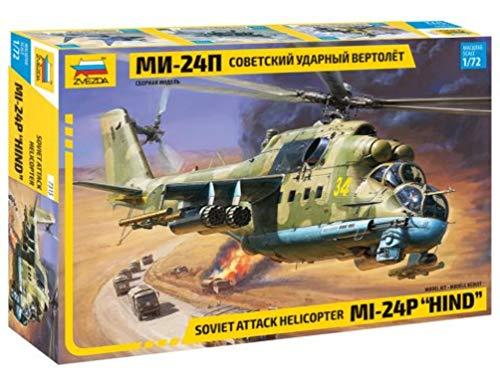 "Zvezda 7315 - Soviet Attack Helicopter MI-24P HIND - Plastic Model Kit Scale 1/72 Lenght 11,75"" 267 Details"