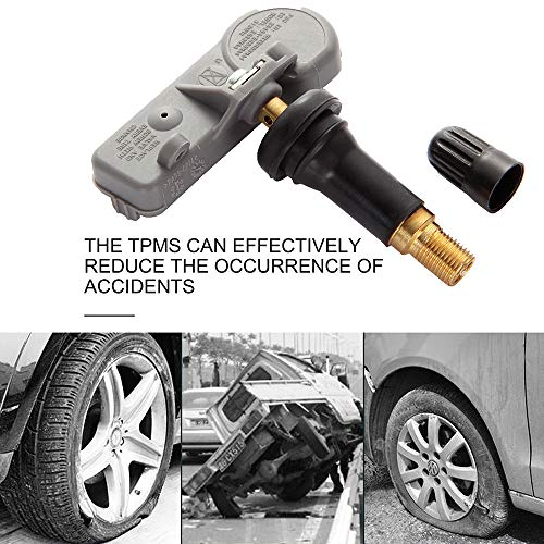 ITM Set of 4 08002M 315mhz TPMS Tire Pressure Sensors for 2016-2019 Toyota Tacoma SR TRD Sport Off-Road Pro SR5 Limited Replacement w//Silver Aluminum Valve Stems