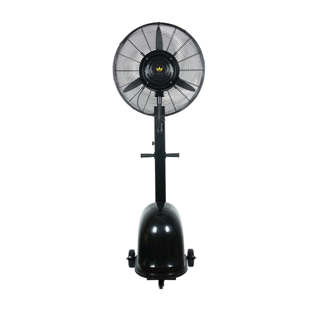 スプレーファン工業用強力な商業デスクトップ霧化冷却フロアファン空調ファン -家庭の照明 (色 : ブラック) B07R9QXT12 ブラック