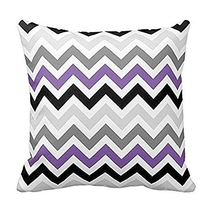Amazon.com: Purple Throw Pillow Covers Zigzag Chevron ...