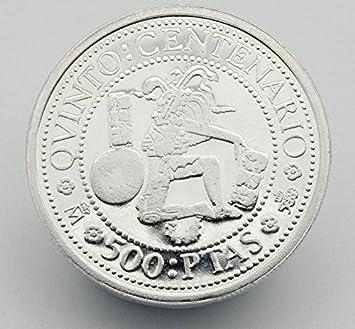 Moneda de Plata Conmemorando el 500 Aniversario del Descubrimiento de America. Moneda de 500 Pesetas de Plata del Año 1989. Moneda Coleccionista.: Amazon.es: Juguetes y juegos
