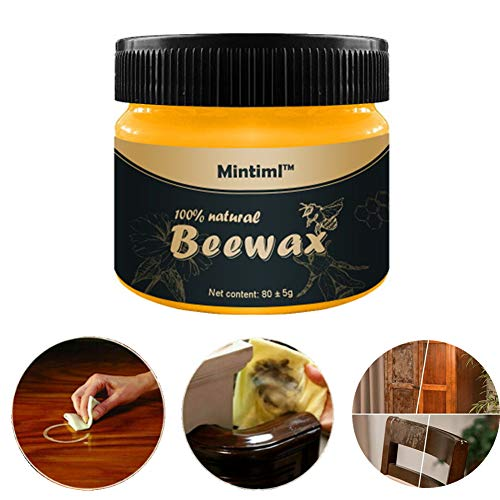 Wood Seasoning Beewax Natural Beewax Polish for Wood & Furniture,Metal & Leather,Complete Solution Furniture Care Home Cleaning,Protect and Enhance The Shine