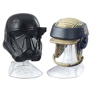 Star Wars Black Series Titanium Series Imperial Death Trooper and Rebel Commando Helmets