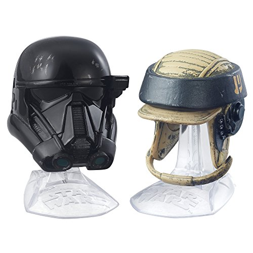 (Star Wars Black Series Titanium Series Imperial Death Trooper and Rebel Commando Helmets )