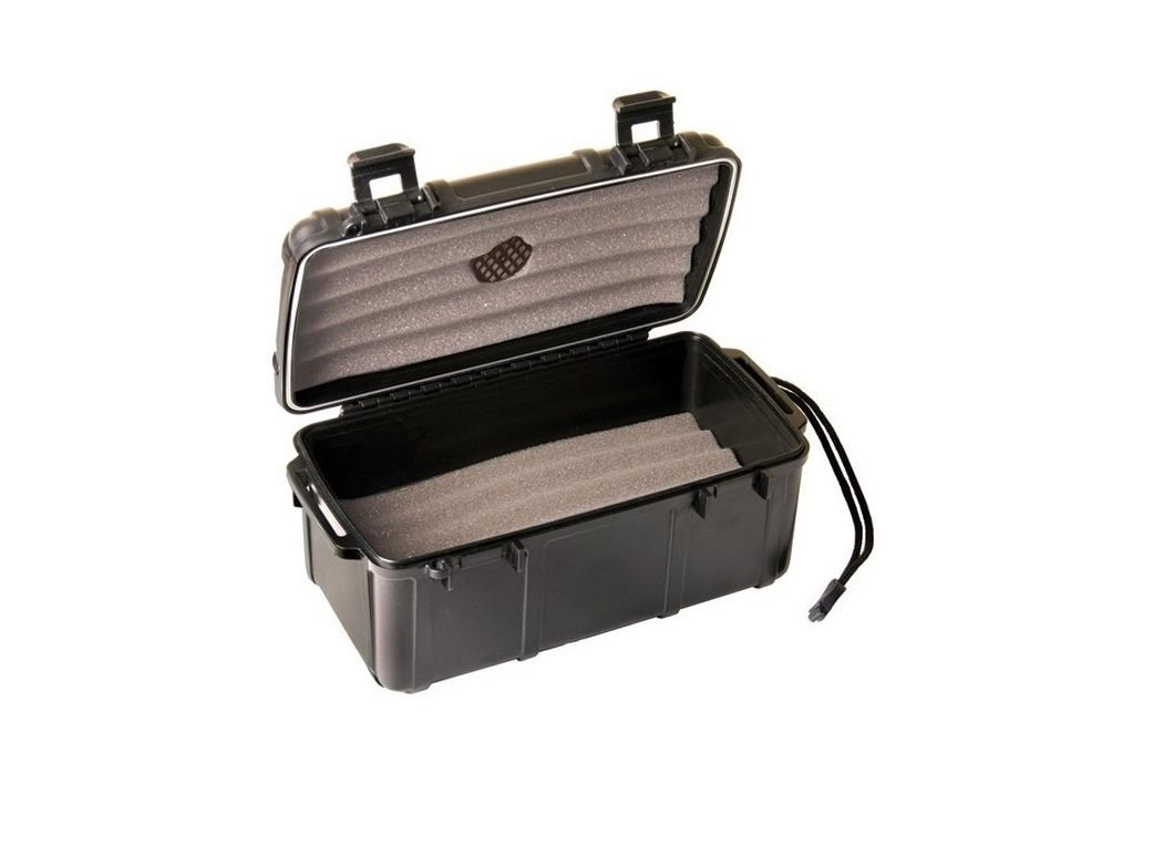 Fess F15 Black Travel Cigar Humidor Waterproof Holder Case for up to 10-15 Cigars by F.E.S.S.