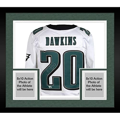 best sneakers 173ba 4046e Framed Brian Dawkins Philadelphia Eagles Autographed White ...
