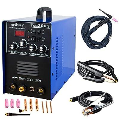 Aluminum Welder 220V TIG/MMA/ARC/Stick 200A Welder AC/DC IGBT Inverter Welding Machine With Welding Consumables TSE200G Accessories