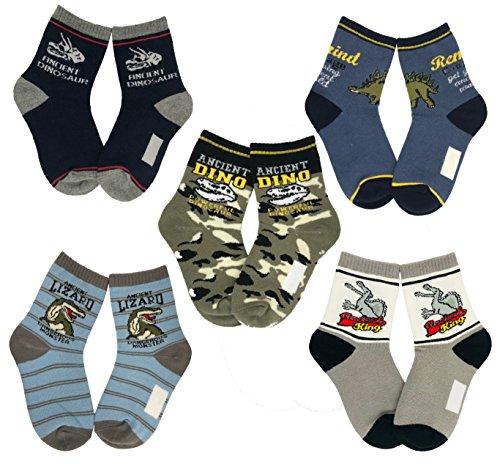 Tiny Captain Boy Dinosaur Socks 4-7 Year Old Boys Crew...