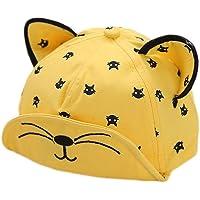 Kanggest.Gorro de Béisbol Sombrero de Bebé Niña Niño 6-24 Meses Recién Nacido del Algodón Suave Patrón Gato Sombrero con…