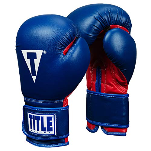 Title Boxing Essential Boxing Gloves, Blue/Red, 12 oz