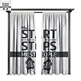 inspiring modern closet design bybyhome Porch Curtains Quote Modern Motivational and Inspiring Quotation with Teenager Artwork Image Print W96 xL84 Suitable for Front Porch,pergola,Cabana,Covered Patio