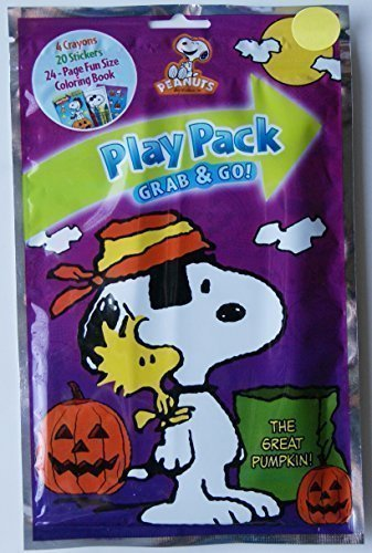 Halloween The Great Pumpkin Snoopy Grab and Go Play Pack -