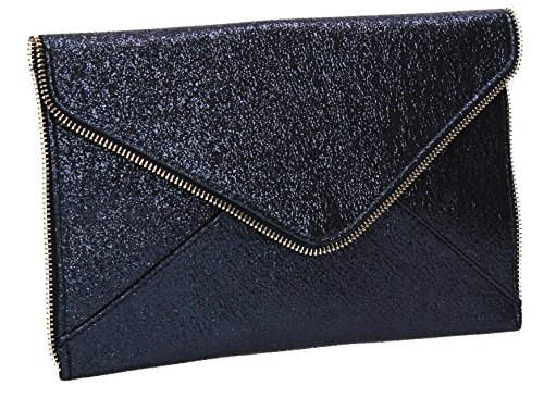 Clutch Lola SWANKYSWANS Slim Party Bag Navy Line Envelope Blue Womens Glitter Uqq0fw