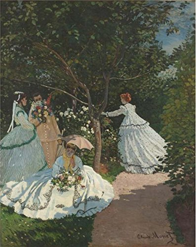 Oil Painting 'Women In The Garden, 1867 By Claude Monet', 20 x 25 inch / 51 x 64 cm , on High Definition HD canvas prints is for Gifts And - Skyline Sunglasses Seattle