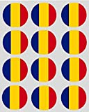 12 Romanian Flag Cupcake 40mm Toppers Rice Paper Fairy Cake Pre Cut Decorations
