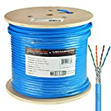 Mediabridge Solid Copper Cat7 Ethernet Cable (500 Feet, Blue) - Low-Smoke Zero Halogen Jacket (Part# C7-500-BLUE )