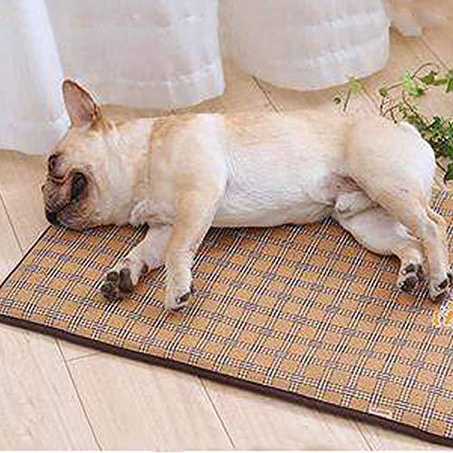 YJLGRYF ペットの巣犬のパッドペットの睡眠パッドテディ犬のベッド猫クールパッドの植物籐ペットマット快適なペットカーペットサイズ48 x 38 x 2 cm、69 x 50 x 2 cm、100 x 69 x 2 cm、120 x 73 x 2 cm(S、M、L、 XL) ペットの家 (色 : A, サイズ さいず : XL) B07QMJJJMC B Medium Medium|B
