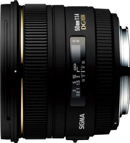 Sigma 50mm f1.4 EX DG HSM Lens for Canon Digital SLR Cameras