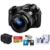 Sony Cyber-Shot DSC-RX10 II Digital Camera, Black - Bundle with Camera Bag, 32GB Class 10 SDHC Card, Cleaning Kit, Software Package