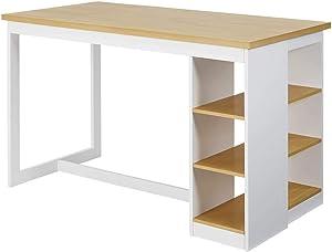Progressive Furniture Christy Counter Storage Table, Oak/White