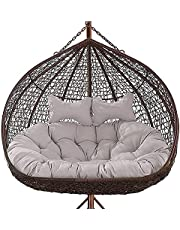 Comfort Non-Slip Wicker Rattan Cushion Comfortable Hanging Egg Chair Cushion Thick Nest Swing Pad Outdoor Hammock Chair Pads Only Cushion