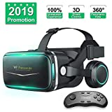 Product review for Pansonite Vr Headset with Remote Controller[New Version], 3D Glasses Virtual Reality Headset for VR Games & 3D Movies, Eye Care System for iPhone and Android Smartphones