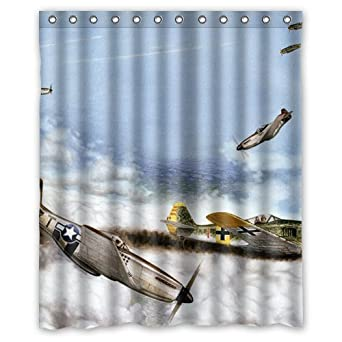 Amazon WWII Military Aviation Art Custom Shower Curtain 60quot