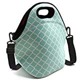 ALLENLIFE Waterproof cute small neoprene lunch bag Insulated handbags Lunch Box Cooler Bag