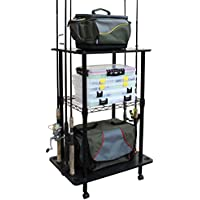 Rush Creek Creations 12 Fishing Rod Storage Tackle Cart -...