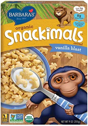 Breakfast Cereal: Barbara's Organic Snackimals