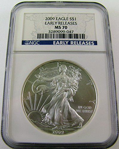 2009 Silver Eagle $1 MS70 NGC