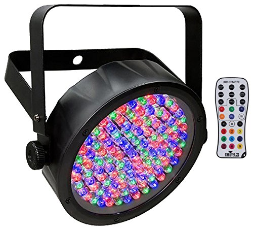 Package: Chauvet DJ SlimPAR 56 IRC IP DMX LED Wash Light IP65 Rated for Outdoor Use With Static Colors And RGB Color Mixing Without A DMX Controller + Chauvet IRC-6 Infrared Wireless Remote Control ()