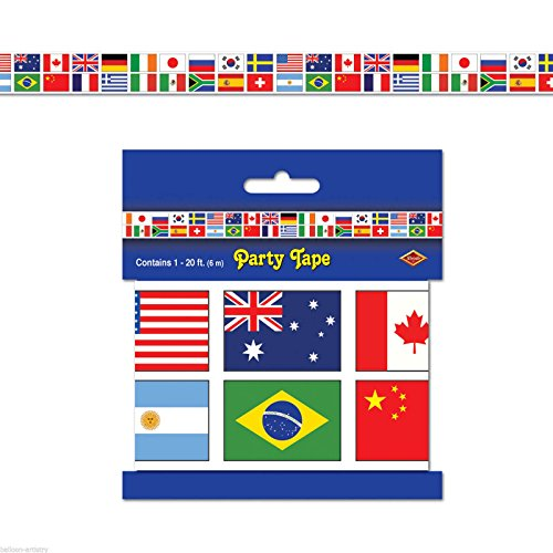 International Flag Party Tape Party Accessory (1 count) -