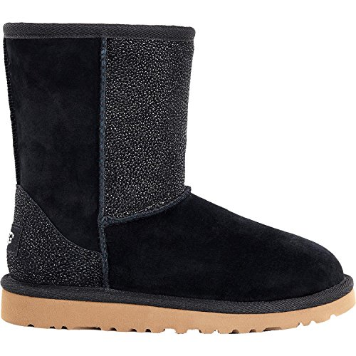 UGG Little Kids Classic Short Serein Boot Black