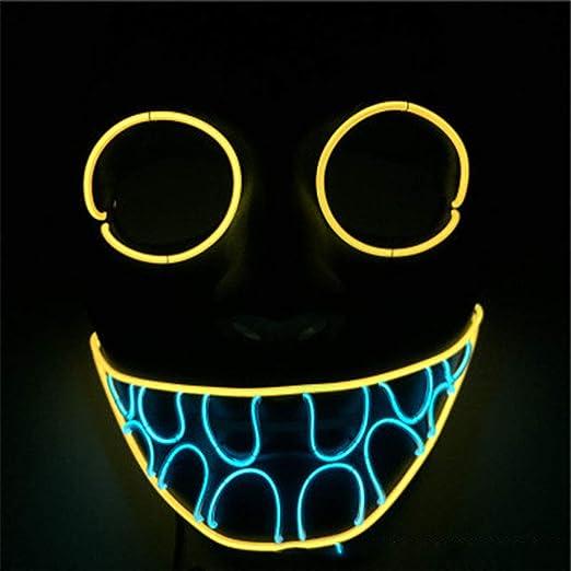 SHR-GCHAO LED máscara de Halloween Tres Patrones de LED ...