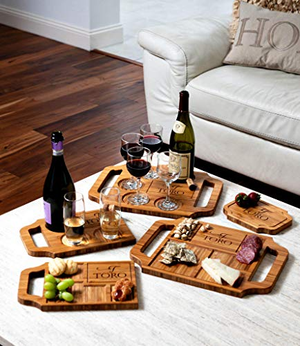 Gift Set Personalized Charcuterie Board With Handles, Wine Beer Cocktail Serving Tray Cheese Board, 5 Styles, Gift Sets Available