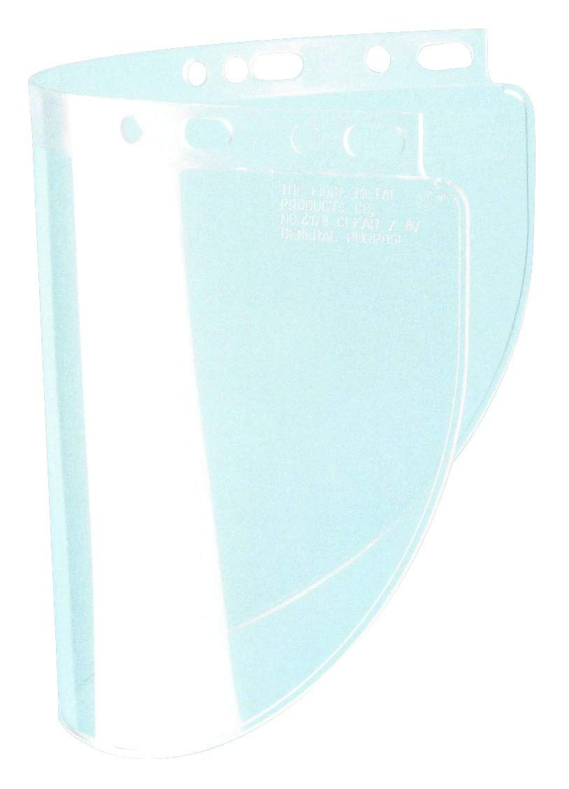Honeywell 4178CL Fibre-Metal Face Shield Window, Capacity, Volume, Standard, Clear (Pack of 12) by Honeywell