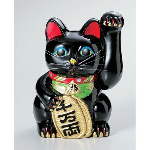 3個セット 招き猫 黒手長小判猫3号(左手) [6 x 6 x 9.9cm] 常滑焼 \u203b参考の写真は8号になります。\u203b全色3号~7号は手描き髭です。\u203b全色. B00RV81VGQ [6 x 6 x 9.9cm]|3個セット [6 x 6 x 9.9cm]