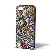 Stickerbomb DC Skate Dub VW Vans for iPhone Case (iPhone 5/5s Black)