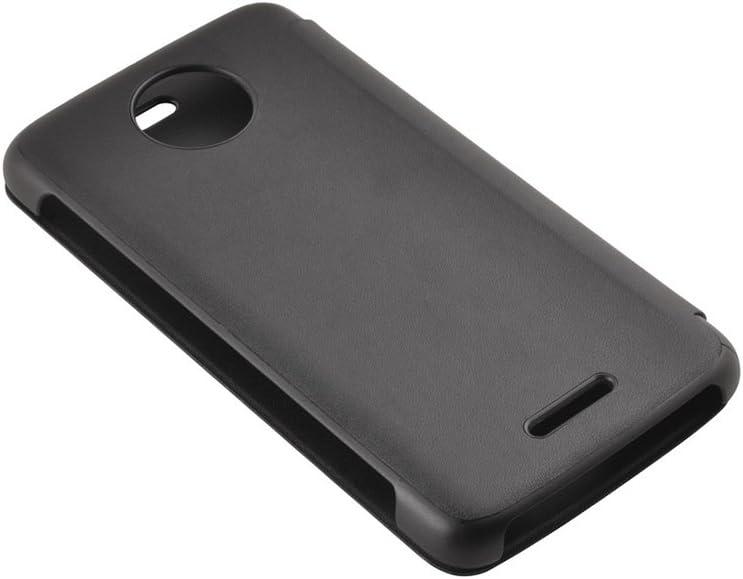Lenovo Touch Flip Case for Moto C Plus - Black