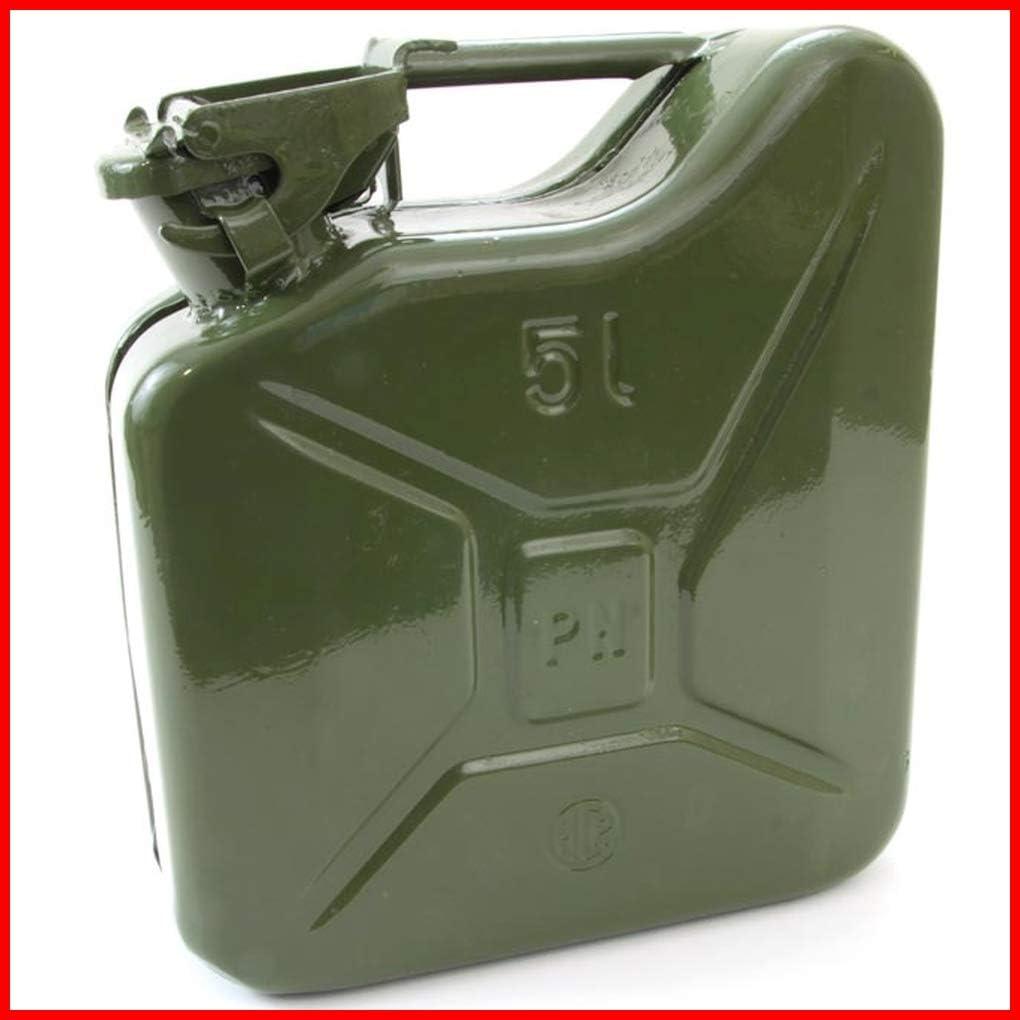 TEILE-24.EU Malinowski - Bidón de Gasolina (Metal, 5 L), Color Verde