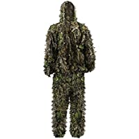 PELLOR Kids 3D Leafy Ghillie Camouflage Hunting Suit
