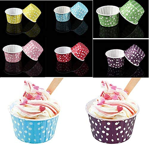 20pcs/Lot Paper Cake Cup Ice Cream Cup Liners Baking Cup Muffin Kitchen Cupcake Cases 6 Colors : Yellow