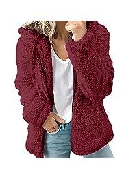 kingf Teddy Jacket Fleece Hooded Coat Fluffy Womens Autumn Winter Sweatshirt